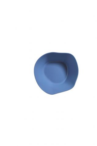 Kütahya Porselen - Kütahya Porselen Skallop 2'li 23 cm Büyük Kase Seti Mavi