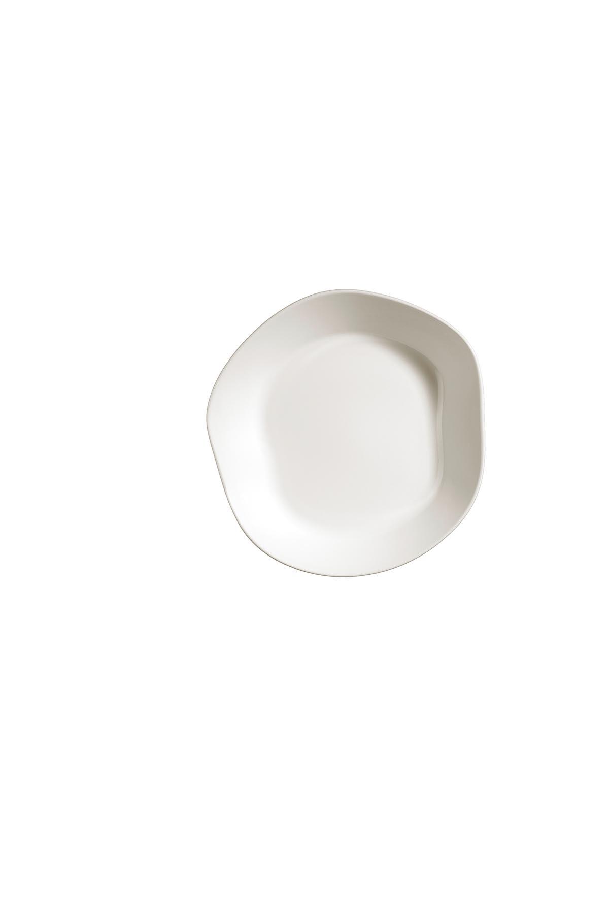 Kütahya Porselen Skallop 2′li 24 cm Çukur Tabak Seti Krem