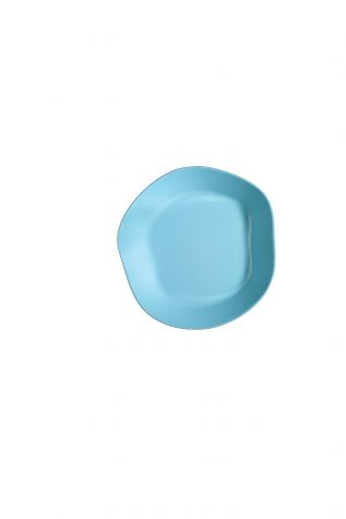 Kütahya Porselen - Kütahya Porselen Skallop 2'li 24 cm Çukur Tabak Seti Seti Turkuaz