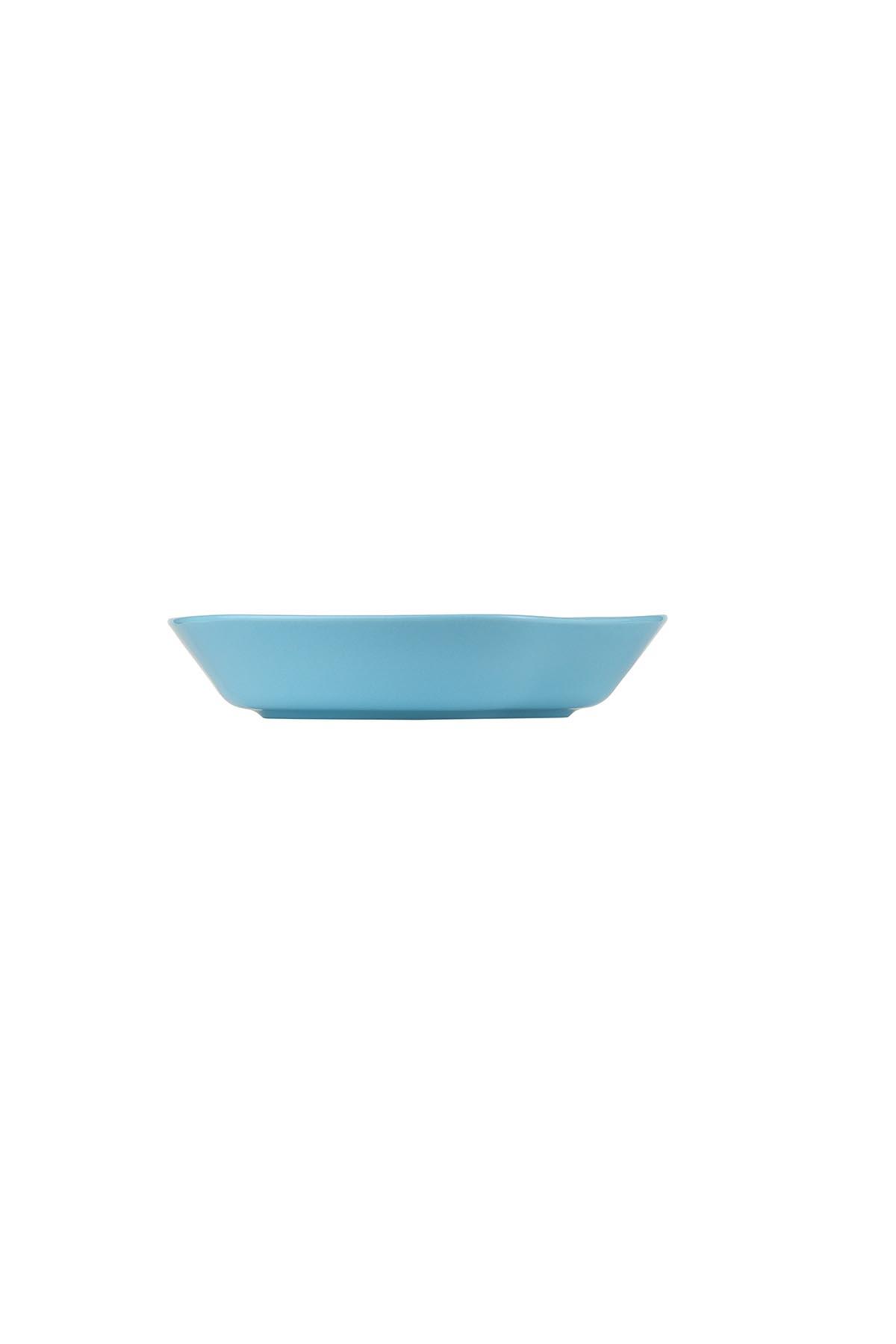 Kütahya Porselen Skallop 2'li 24 cm Çukur Tabak Seti Seti Turkuaz