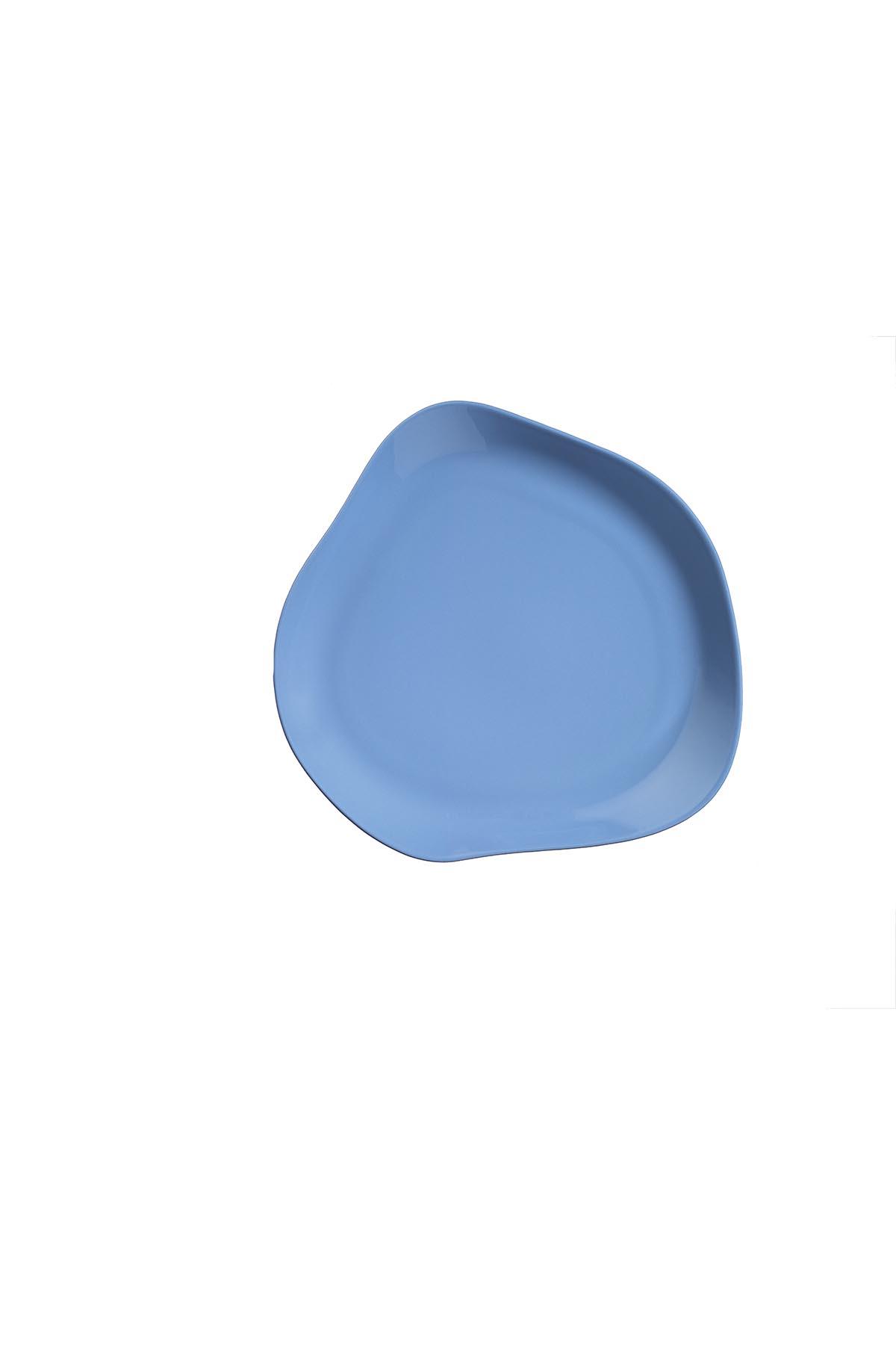 Kütahya Porselen Skallop 2'li 27 cm Servis Seti Mavi