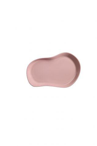 Kütahya Porselen - Kütahya Porselen Skallop 2'li 28x19 cm Kayik Tabak Seti Pembe