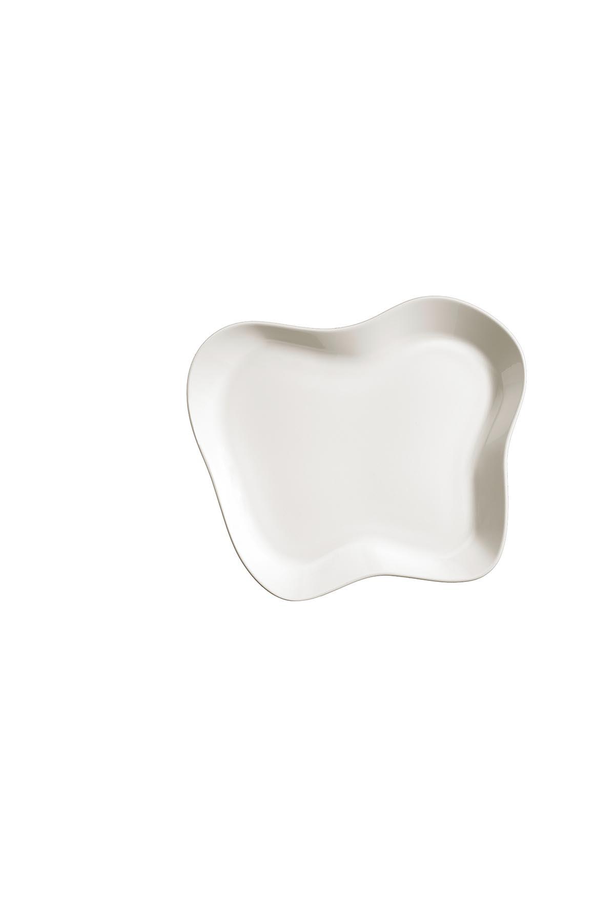 Kütahya Porselen Skallop 2′li 28x25 cm Kayık Seti Krem