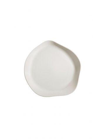 Kütahya Porselen - Kütahya Porselen Skallop 2′li 32 cm Servis Seti Krem