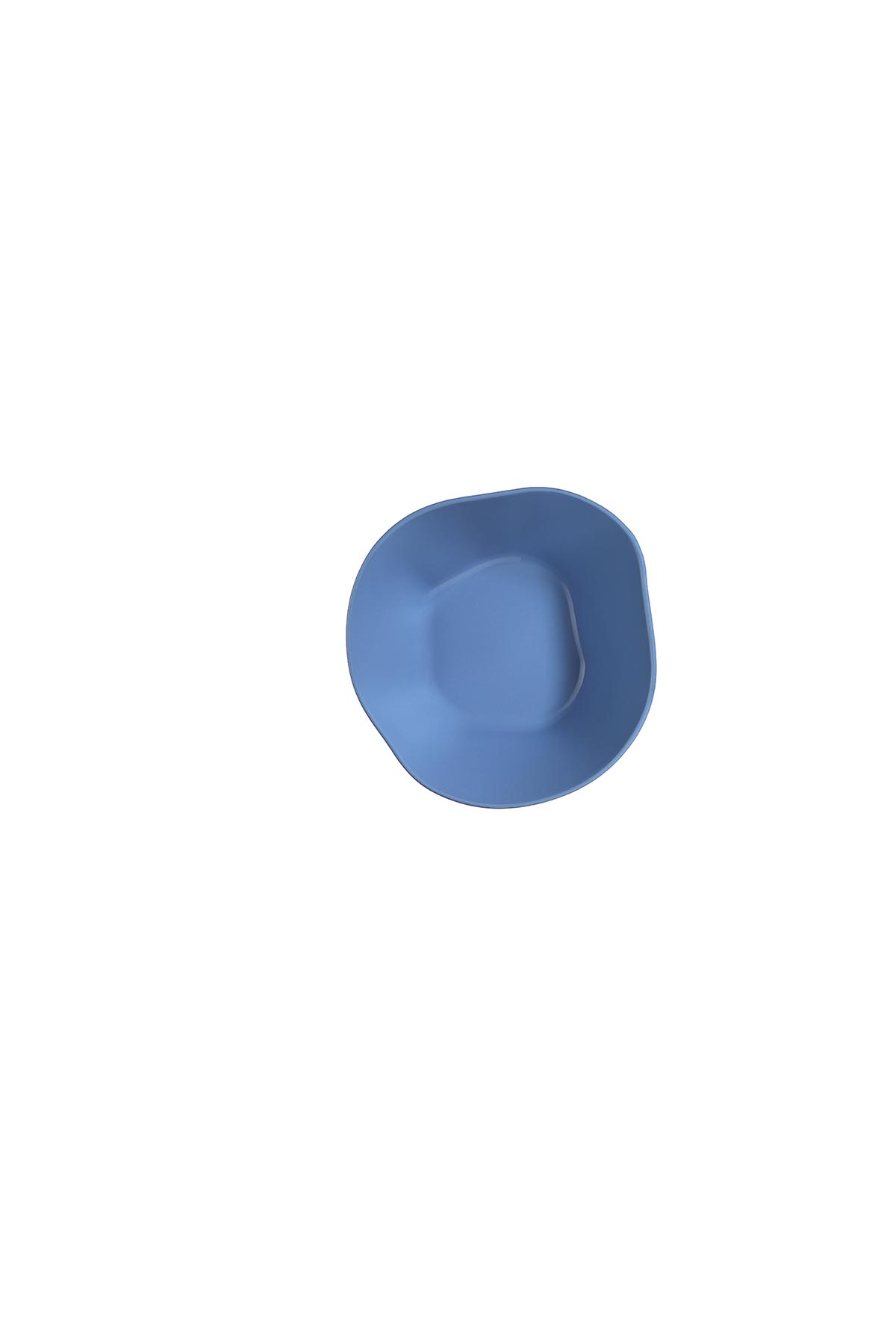 Kütahya Porselen Skallop 2'li 18 cm Kase Seti Mavi