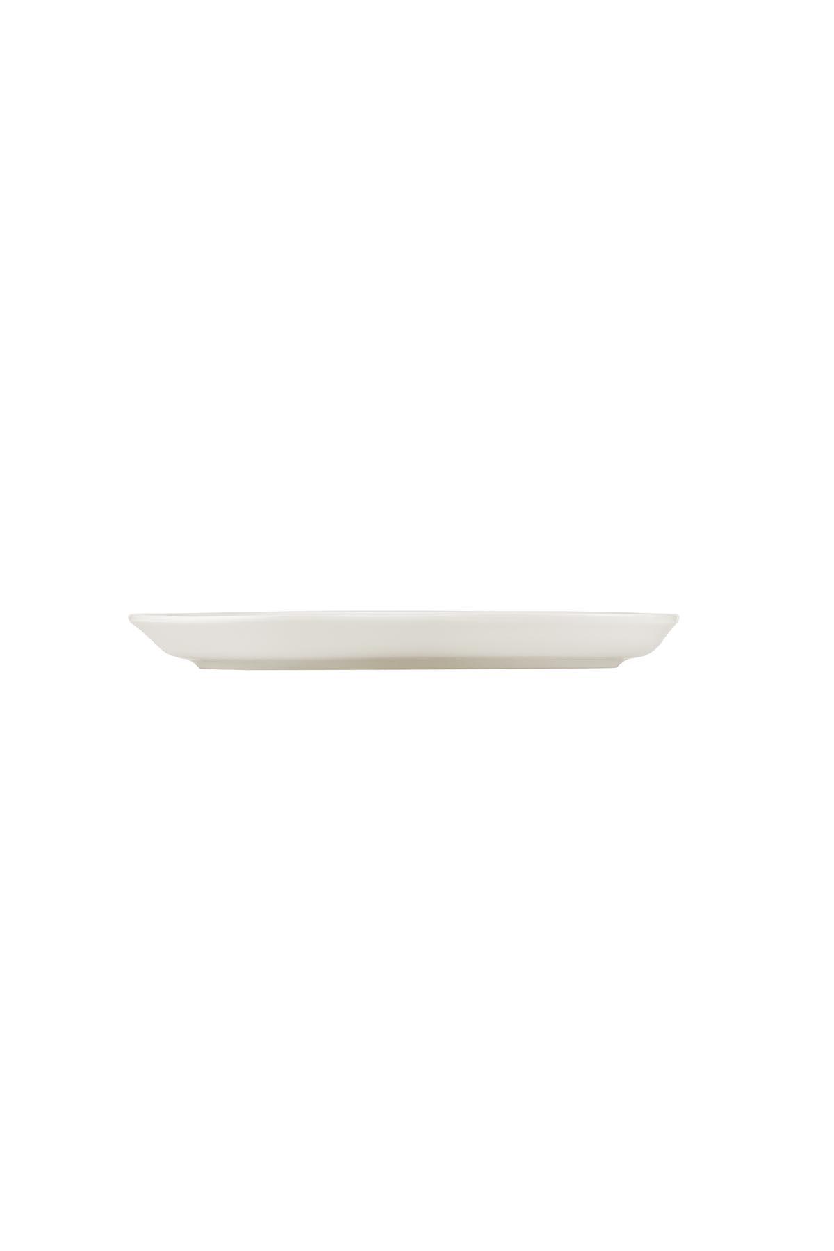 Kütahya Porselen Skallop 2′li Li 28x19 cm Kayık Tabak Seti Krem