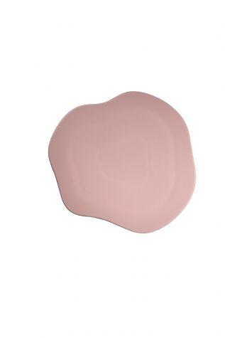 Kütahya Porselen - Kütahya Porselen Skallop 34,5 cm Peynir Tabağı Açık Pembe