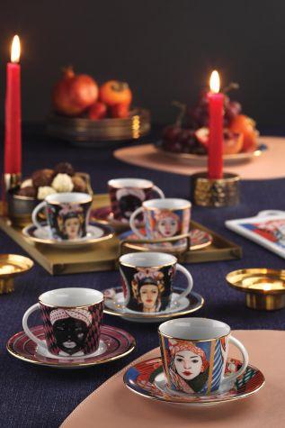 Kütahya Porselen - Kütahya Porselen Sophia Femina Kahve Takımı