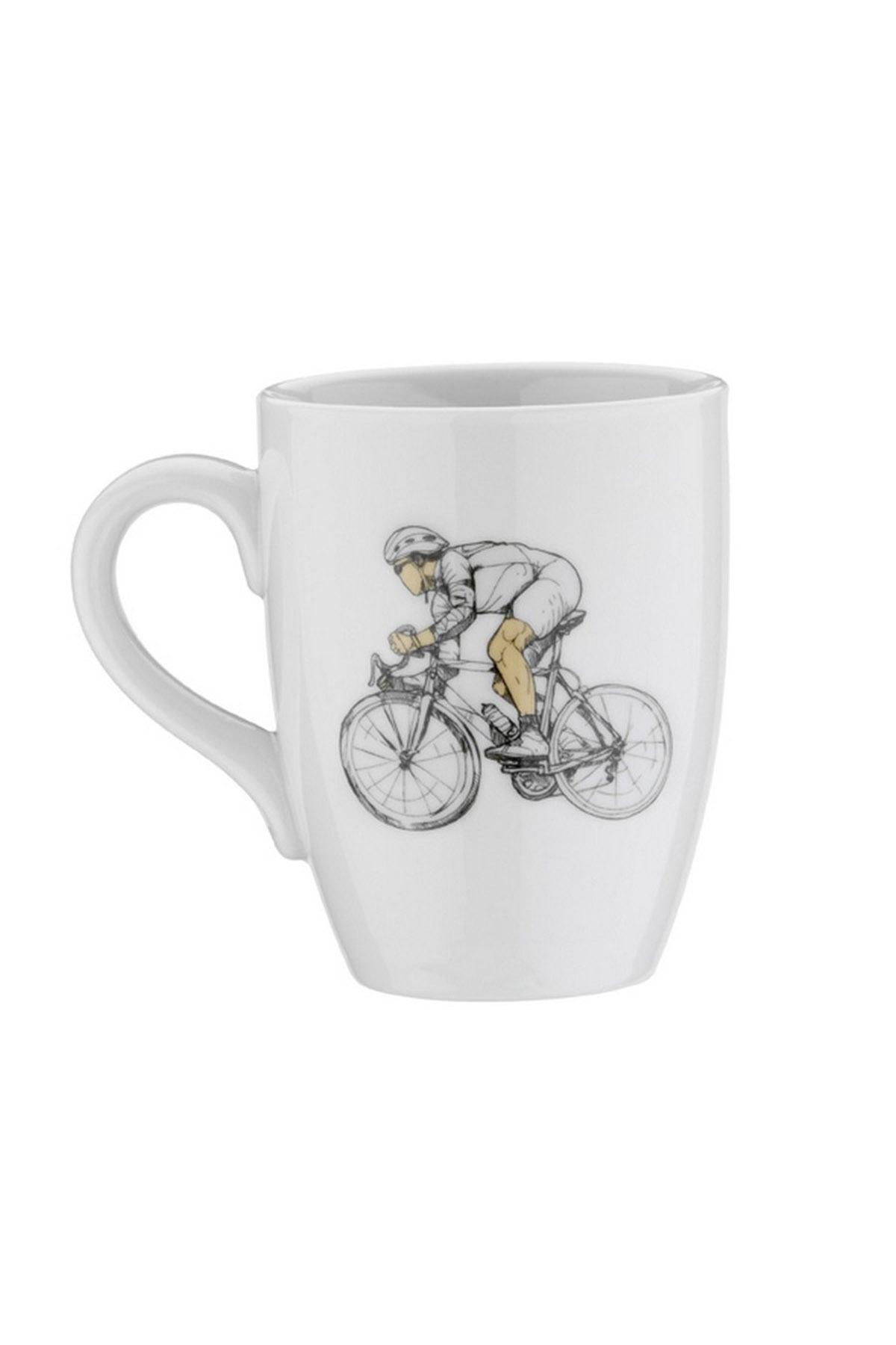 Kütahya Porselen Sporcu Mug Bardak Bisiklet