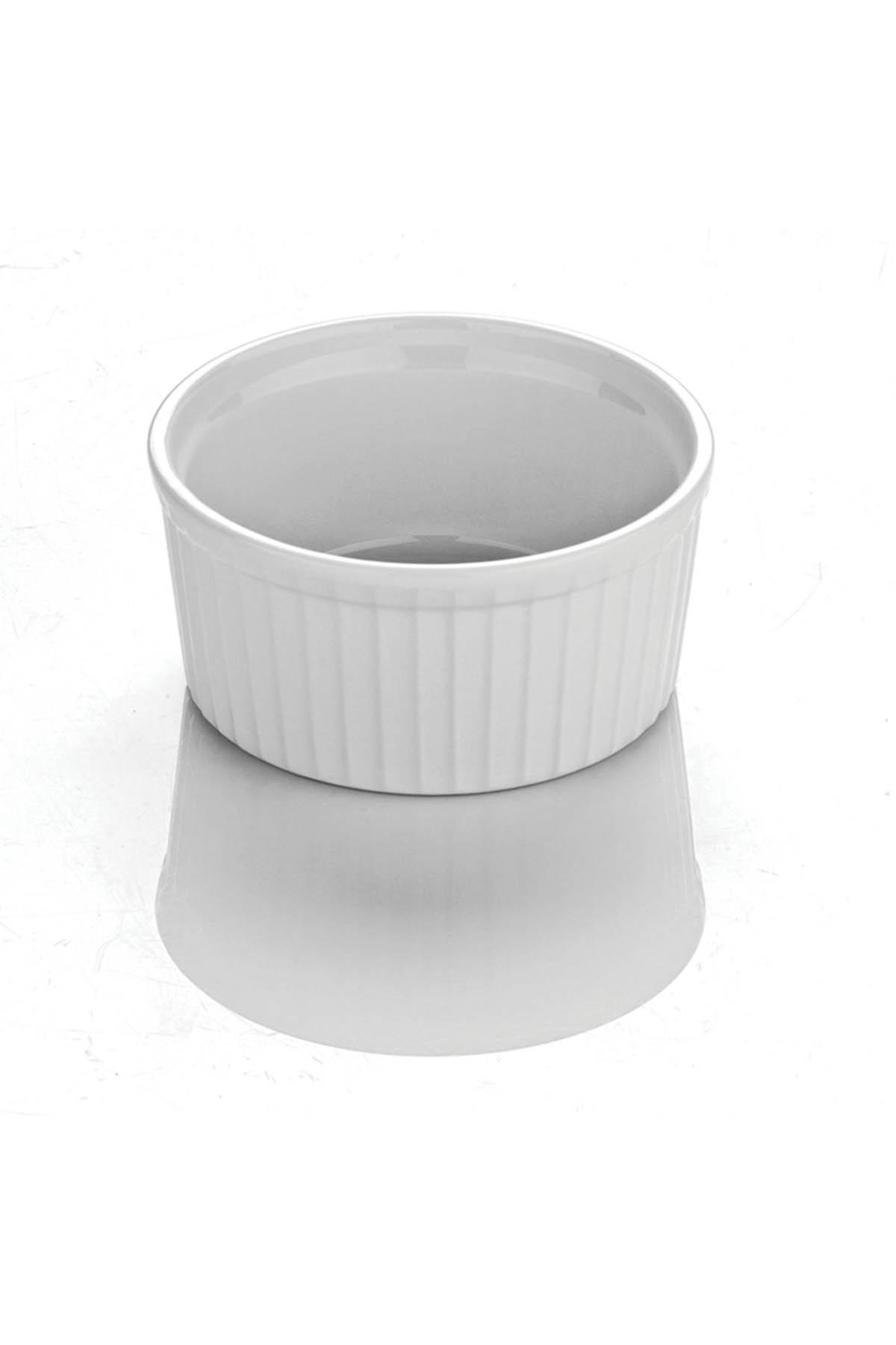 Kütahya Porselen - Sufle Kasesi 9 Cm Dekorsuz
