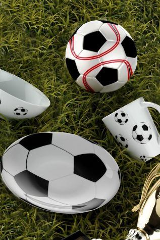 Kütahya Porselen - Kütahya Porselen Team Game Football Yemek Seti