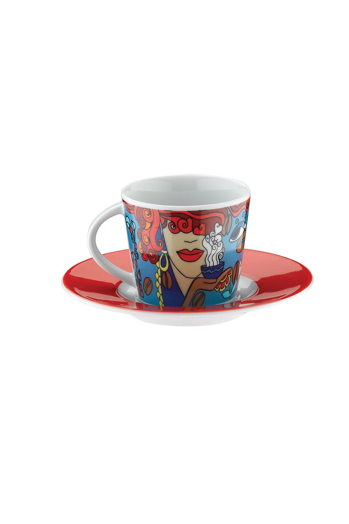 Kütahya Porselen Toledo 10910 Desen Kahve Takımı