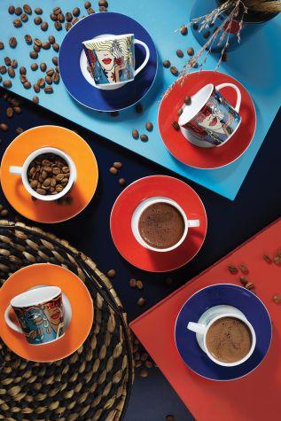Kütahya Porselen - Kütahya Porselen Toledo 10910 Desen Kahve Takımı