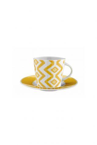 Kütahya Porselen - Kütahya Porselen Toledo 8777 Desen Çay Fincan Takımı