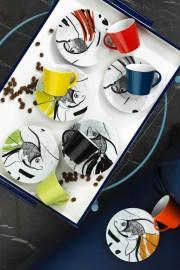 Kütahya Porselen Toledo 898304 Desen Kahve Fincan Takımı - Thumbnail