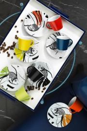 Kütahya Porselen Toledo 8304 Desen Kahve Fincan Takımı - Thumbnail
