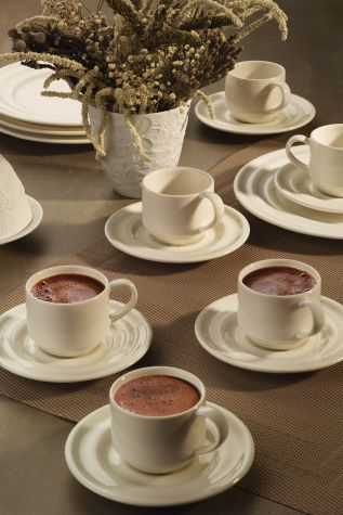 Kütahya Porselen - Kütahya Porselen Tuvana Kahve Takımı Krem