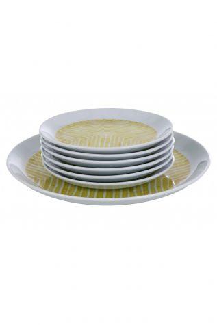 Kütahya Porselen - Kütahya Porselen Vista 7 Parça Sarı Pasta Takımı