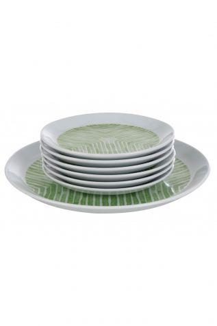 Kütahya Porselen - Kütahya Porselen Vista 7 Parça Yeşil Pasta Takımı