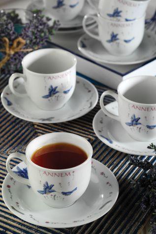 Kütahya Porselen - Kütahya Porselen Yasemin 10228 Desen Çay Fincan Takımı