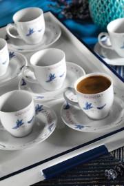 Kütahya Porselen Yasemin 12 Parça 10228 Desen Kahve Takımı - Thumbnail