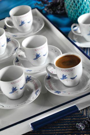 Kütahya Porselen - Kütahya Porselen Yasemin 12 Parça 10228 Desen Kahve Takımı