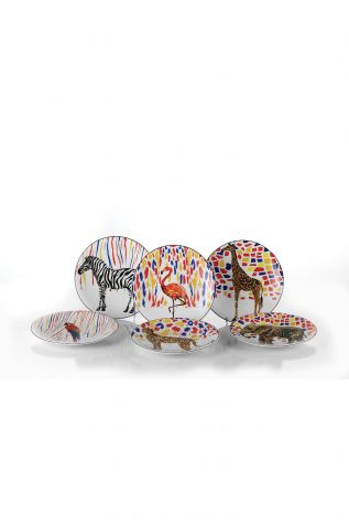 Kütahya Porselen Karnaval Pasta Takımı - Thumbnail (1)