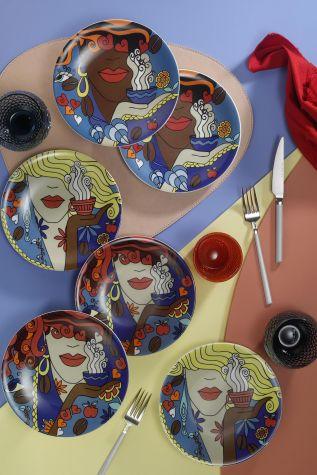 Kütahya Porselen - Kütahya Porselen Zeugma 6′lı Pasta Takımı 10910