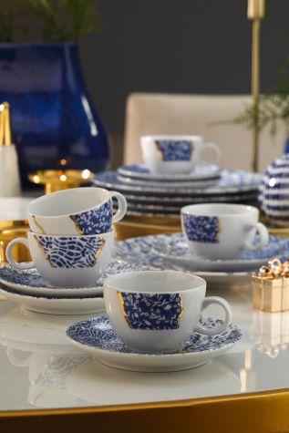 Kütahya Porselen - Kütahya Porselen Zeugma Kintsugi Kahve Takımı