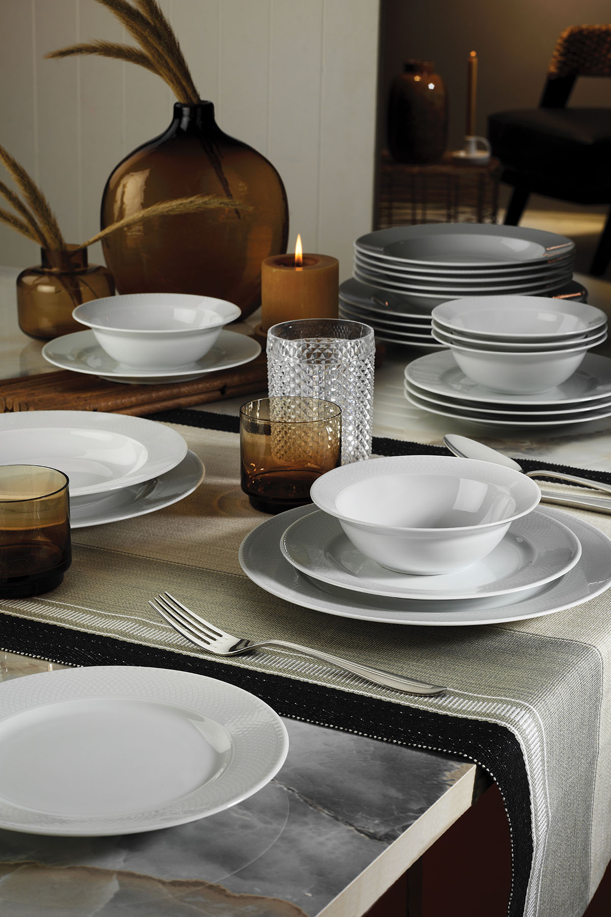 Kütahya Porselen - Kütahya Porselen Zümrüt 24 Parça Yemek Seti