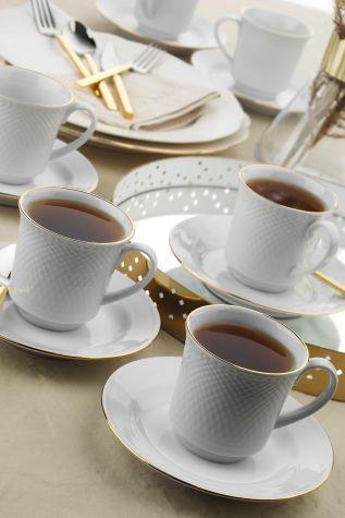 Kütahya Porselen - Kütahya Porselen Zümrüt Çay Fincan Takımı