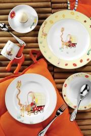 Kütahya Porselen Uzun Zürafa Mama Takımı - Thumbnail