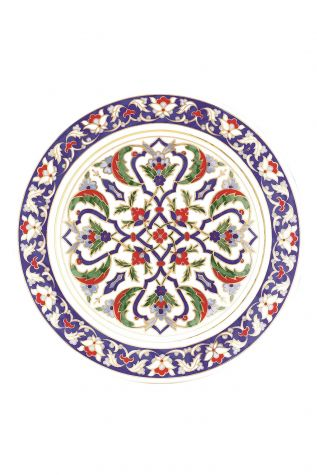 Kütahya Porselen - Kütahya Porselen Lenger 25 cm Duvar Tabağı Dekor No:116