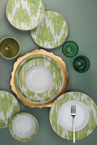 Kütahya Porselen - Leonberg 24 Prc Yemek Seti Yeşil Renk 105633