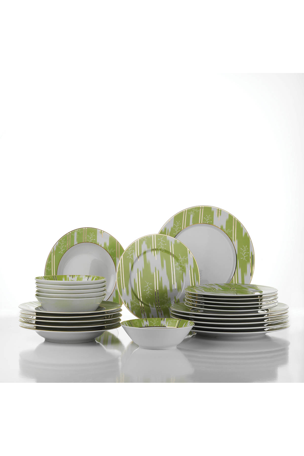 Leonberg 24 Prc Yemek Seti Yeşil Renk 105633