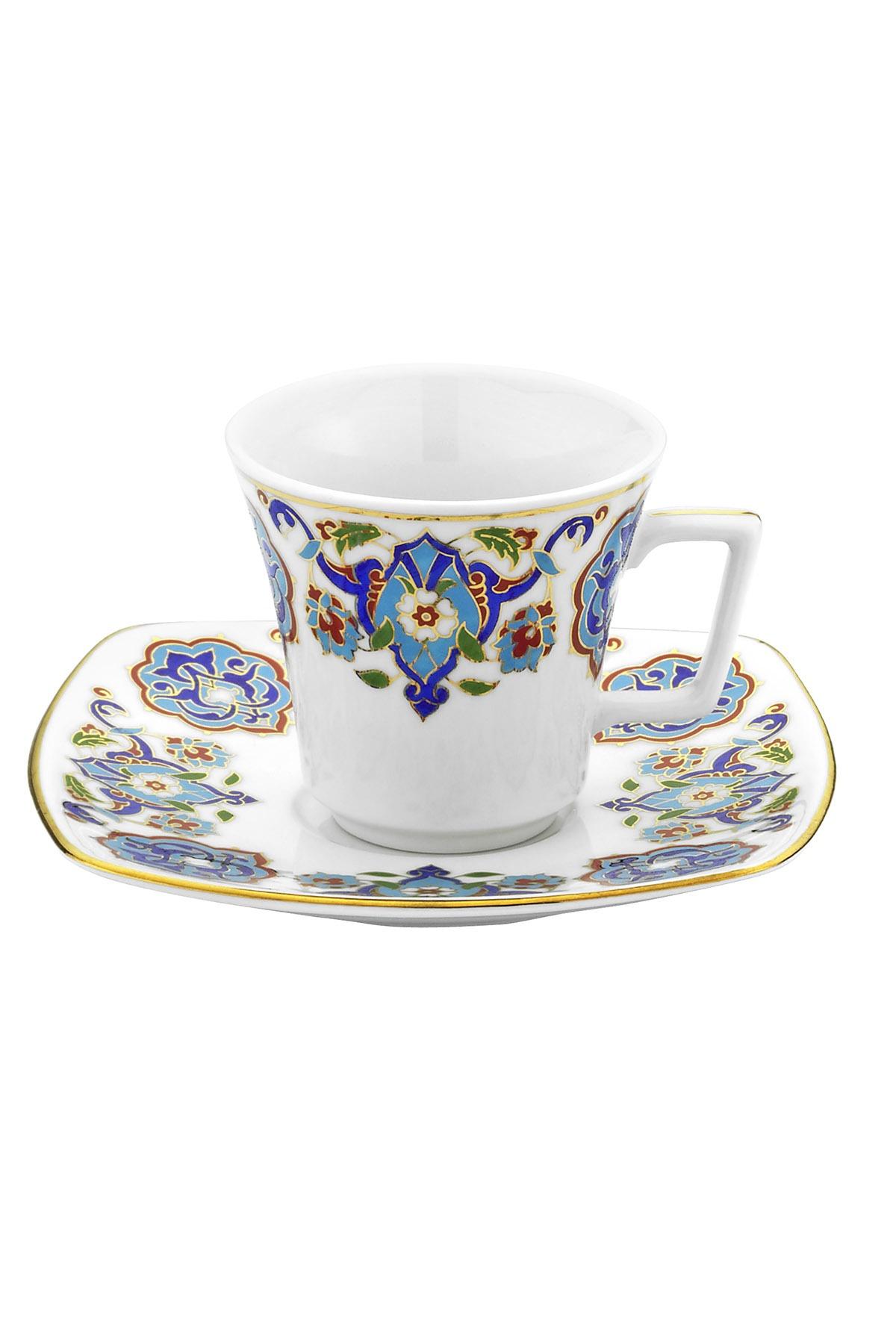 KÜTAHYA PORSELEN - Medusa İki Kişilik Kahve Takımı Dekor No:3868