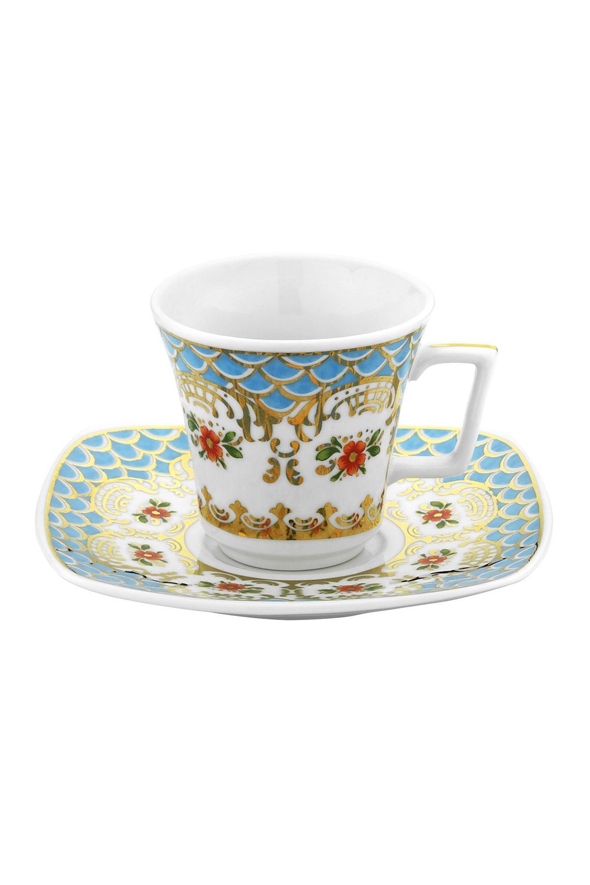 KÜTAHYA PORSELEN - Medusa İki Kişilik Kahve Takımı Dekor No:3872