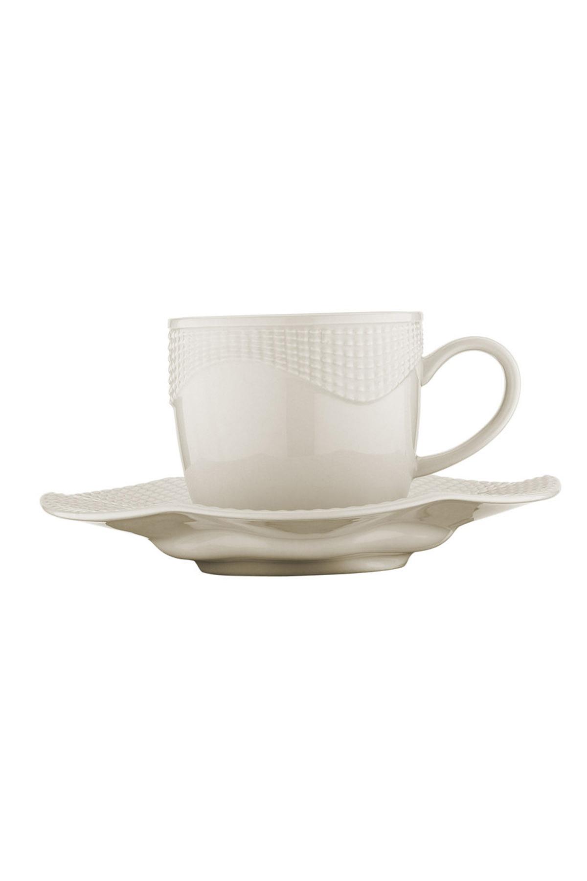 Kütahya Porselen - Kütahya Porselen Milena Krem Kahve Fincan Takımı