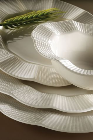 Kütahya Porselen - Kütahya Porselen Milena 24 Parça Krem Yemek Seti
