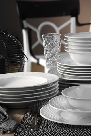 Kütahya Porselen - Kütahya Porselen Polo 24 Parça Yemek Seti
