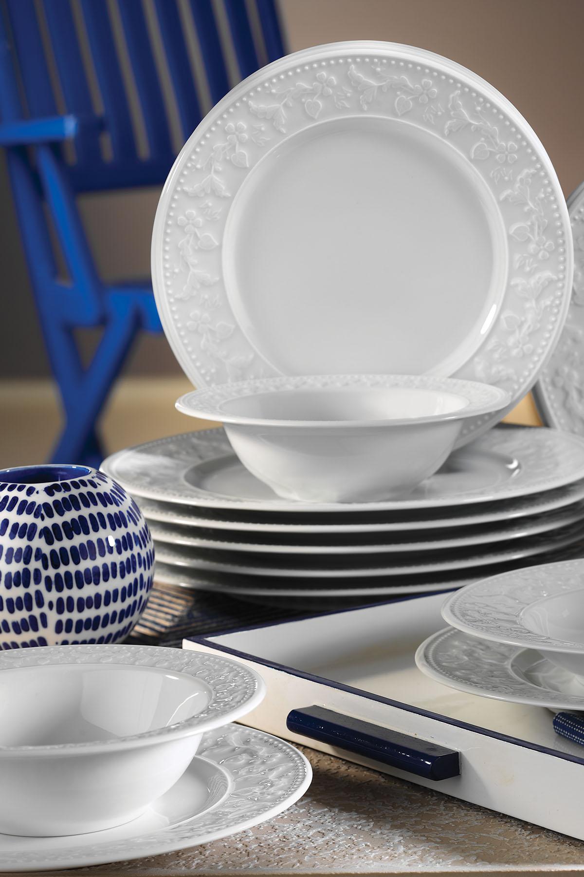 MITTERTEICH - Kütahya Porselen Silvia 24 Parça Yemek Seti