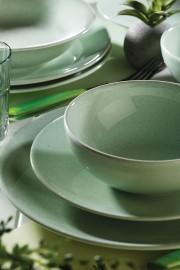 Naturaceram Harlek Granül 24 Parça Yeşil Yemek Seti - Thumbnail