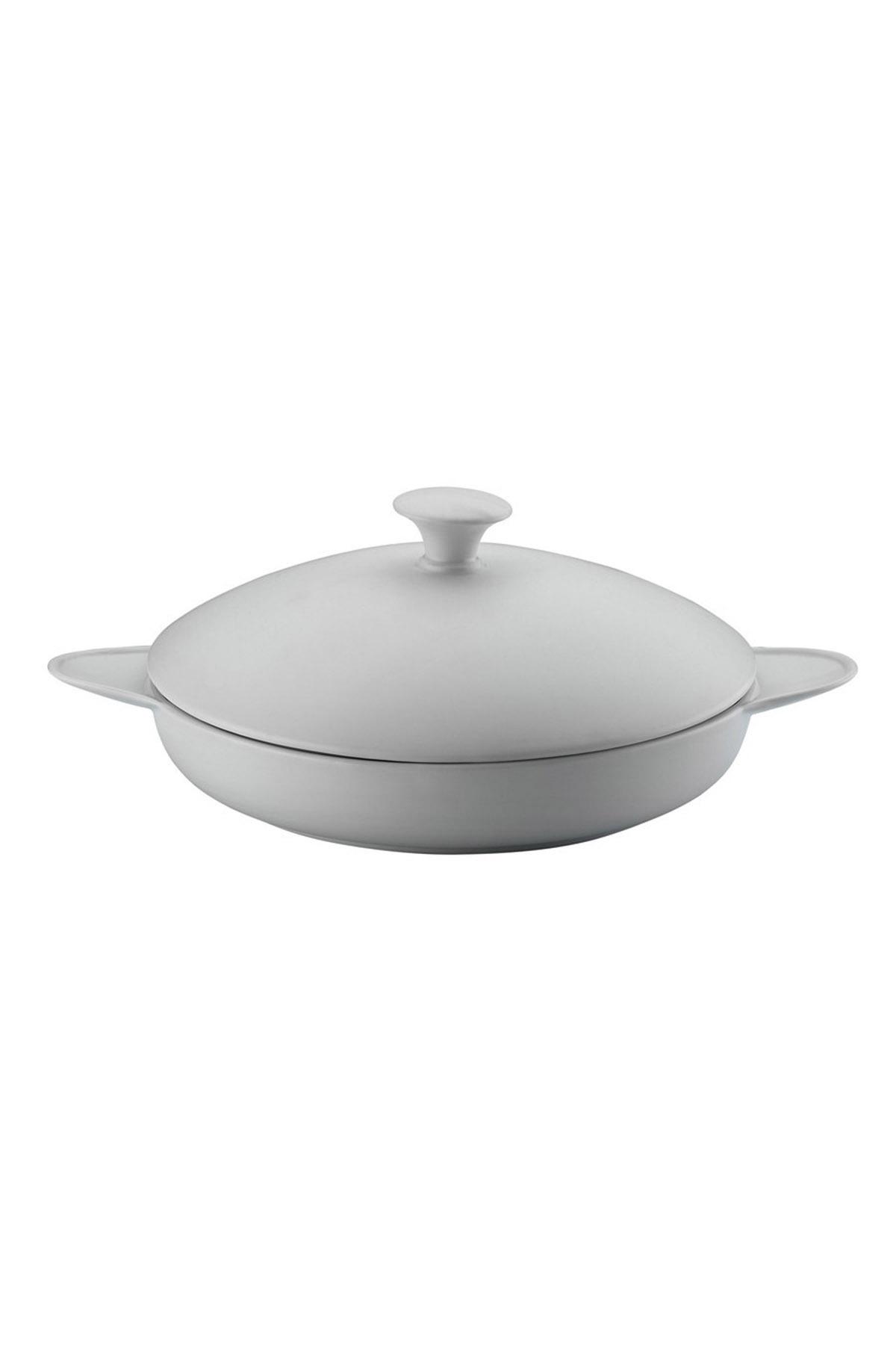 Kütahya Porselen - Porflame Porselen 21 cm Kapaklı Tava