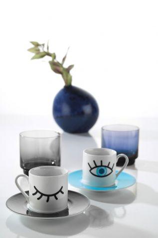 Kütahya Porselen - Kütahya Porselen Rüya 11008 Desen Kahve Fincan Takımı