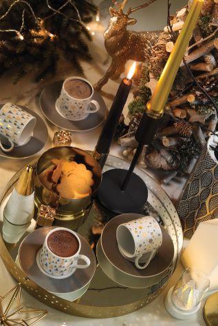 Kütahya Porselen Rüya 11218 Desen Kahve Fincan Takımı - Thumbnail (1)
