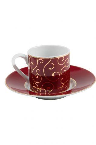 Kütahya Porselen - Kütahya Porselen Rüya 6830 Desen Kahve Fincan Takımı