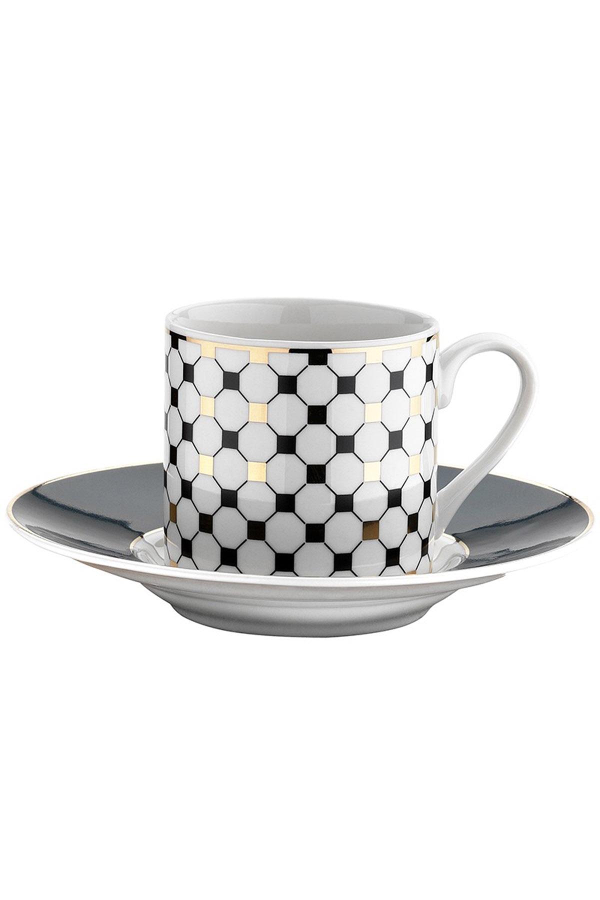 Kütahya Porselen - Kütahya Porselen Rüya 7697 /12 Desen Kahve Fincan Takımı