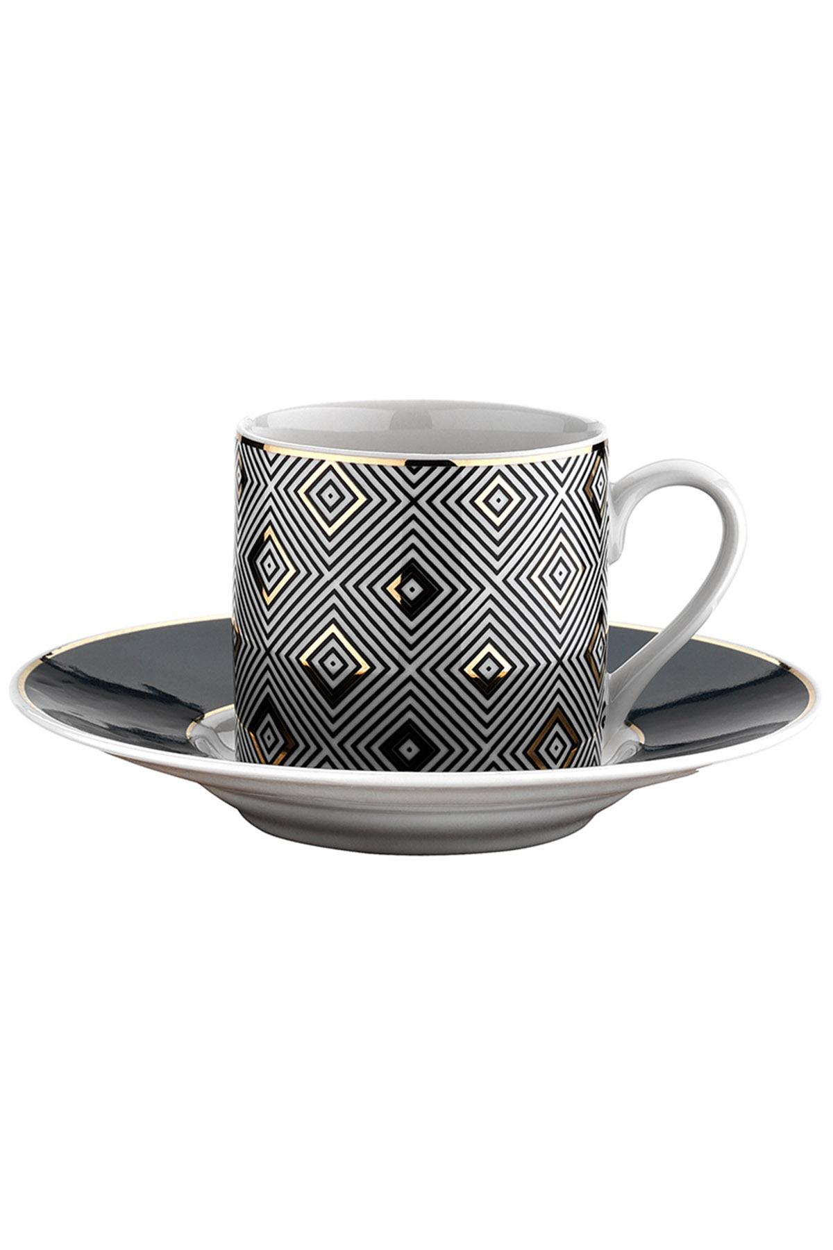 Kütahya Porselen - Kütahya Porselen Rüya 7750 Desen Kahve Fincan Takımı