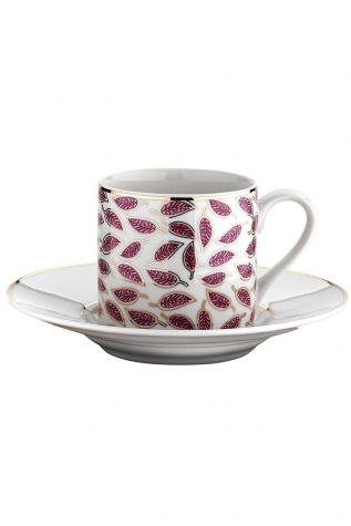 Kütahya Porselen - Kütahya Porselen Rüya 77492 Desen Kahve Fincan Takımı