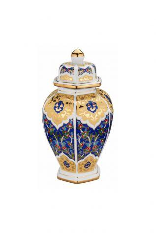 Kütahya Porselen - Kütahya Porselen Kapaklı Küp Dekor No:3880